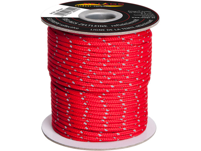 Relags Rope 3mm, reflective red